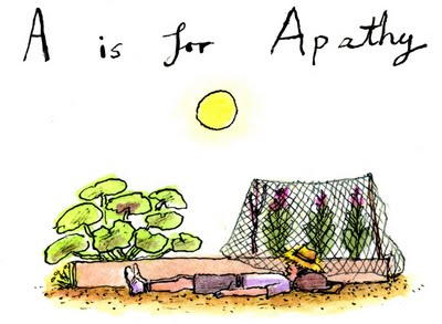 A is for apathy. Illustration by Greg Becker.