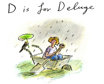 D is for deluge. Illustration by Greg Becker