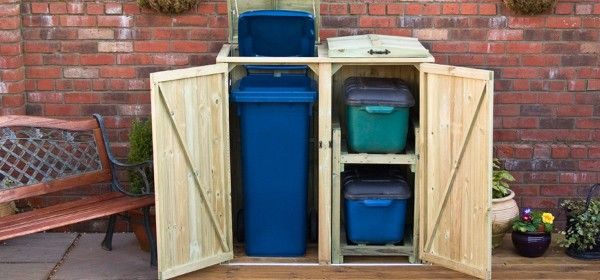 double-recycling-wheelie-bin-store