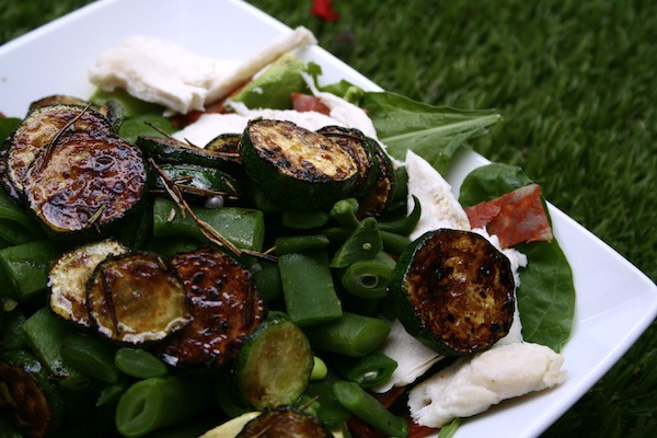 courgette and runner bean salad