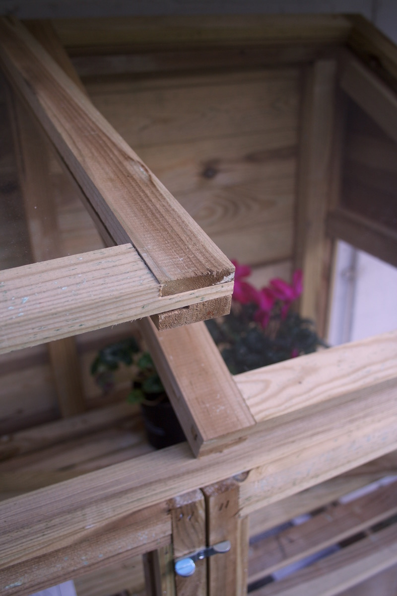 wooden greenhouse lid